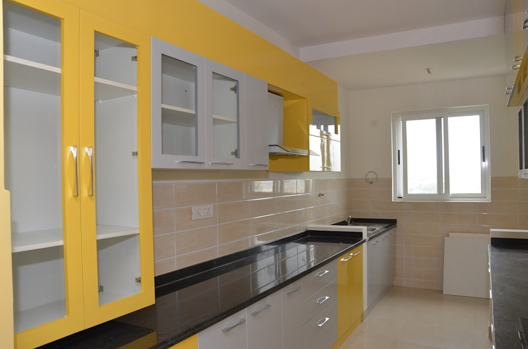 Parallel Modular Kitchens In India Kitchen By Scale Inch Pvt Ltd