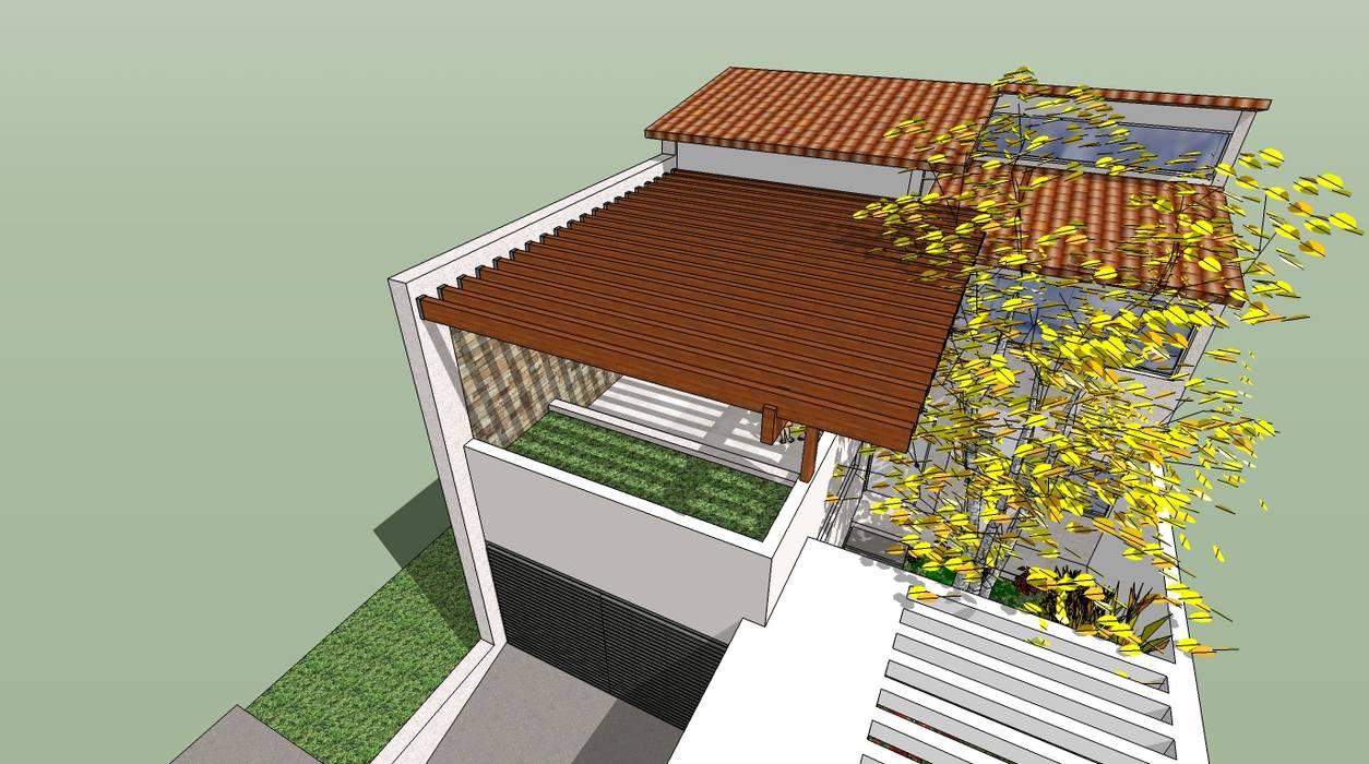 Detalle De Pergola De Madera Balcones Y Terrazas De Estilo
