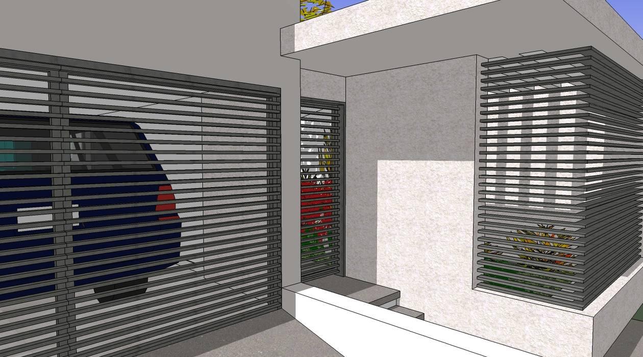 Acceso Casas modernas de MARATEA estudio Moderno