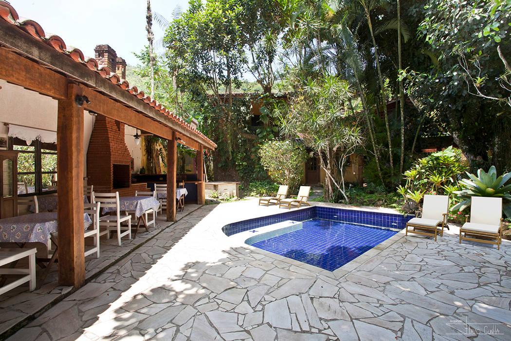 SET Arquitetura e Construções Tropical style pool