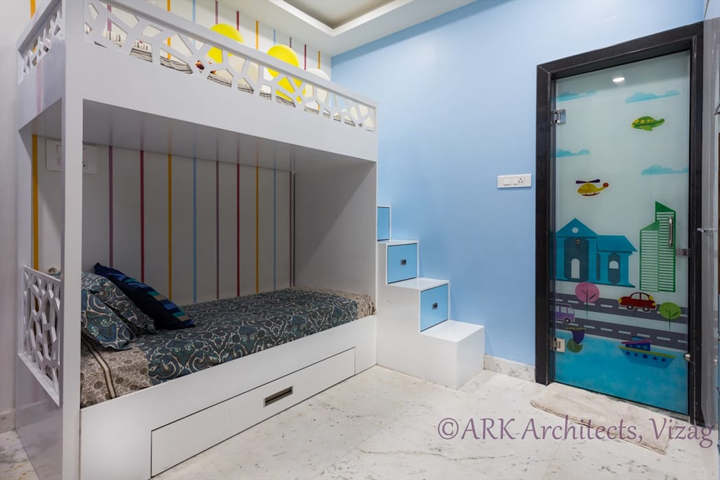 Small Flat, Cosy Interiors:  Nursery/kid's room by ARK Architects & Interior Designers