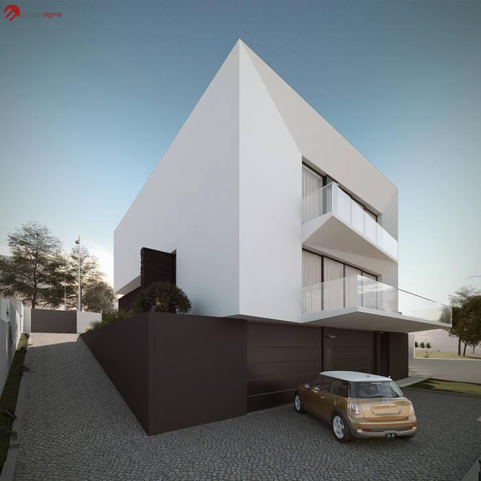 Moradia unifamliar - Tipologia T3: Casas  por EsboçoSigma, Lda