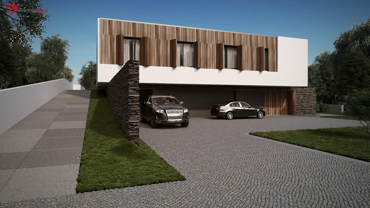 Дома в стиле минимализм от Esboçosigma, Lda Минимализм