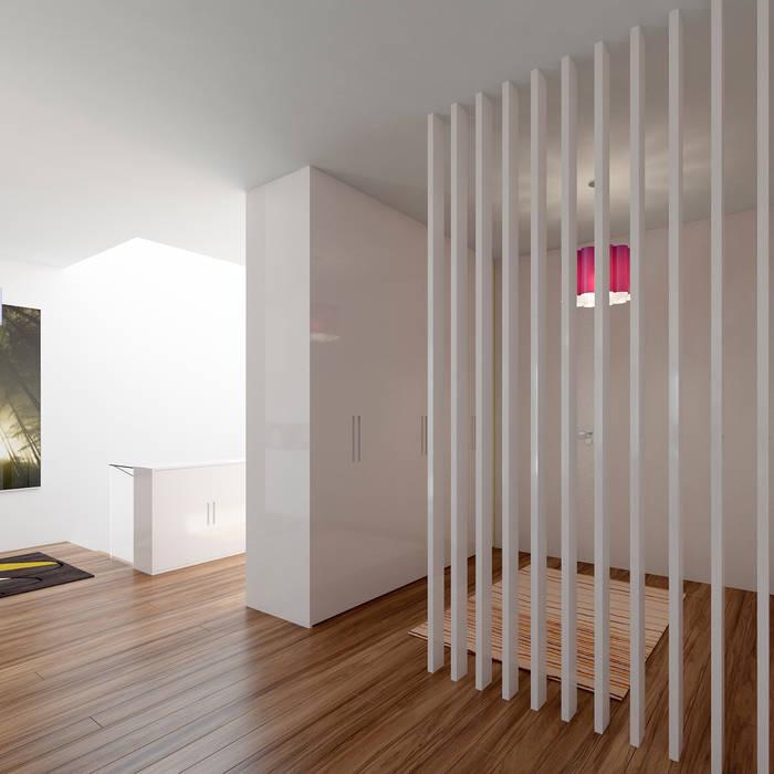 Minimalist corridor, hallway & stairs by Esboçosigma, Lda Minimalist