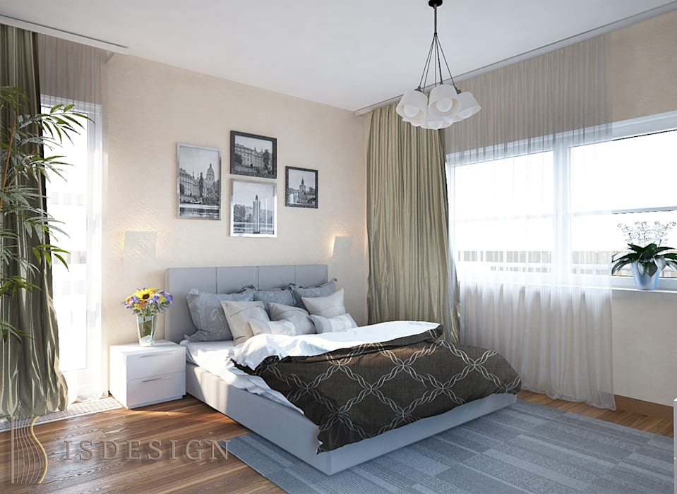 Спальня для гостей: Спальни в . Автор – ISDesign group s.r.o.