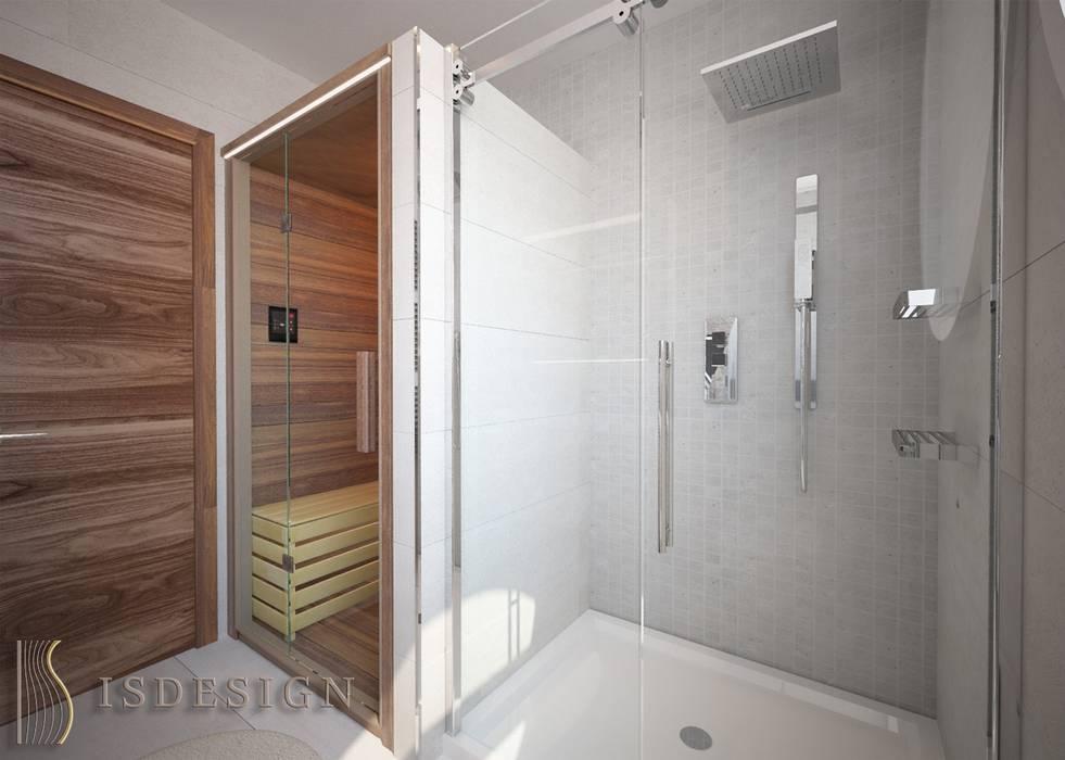 Душевая комната - сауна: Ванные комнаты в . Автор – ISDesign group s.r.o., Эклектичный