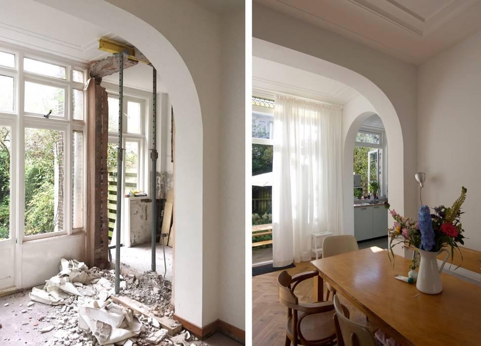 Betrekken achterkamer en keuken door studiopops homify for Rechthoekige woonkamer inrichten