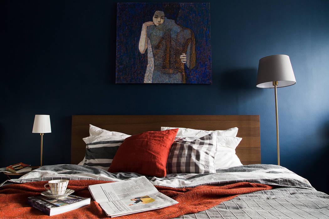 Фрагмент спальни: Спальни в . Автор – Евгения Рахвальская