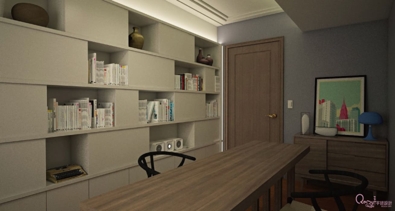 🍀:  書房/辦公室 by 宇喆室內裝修設計有限公司