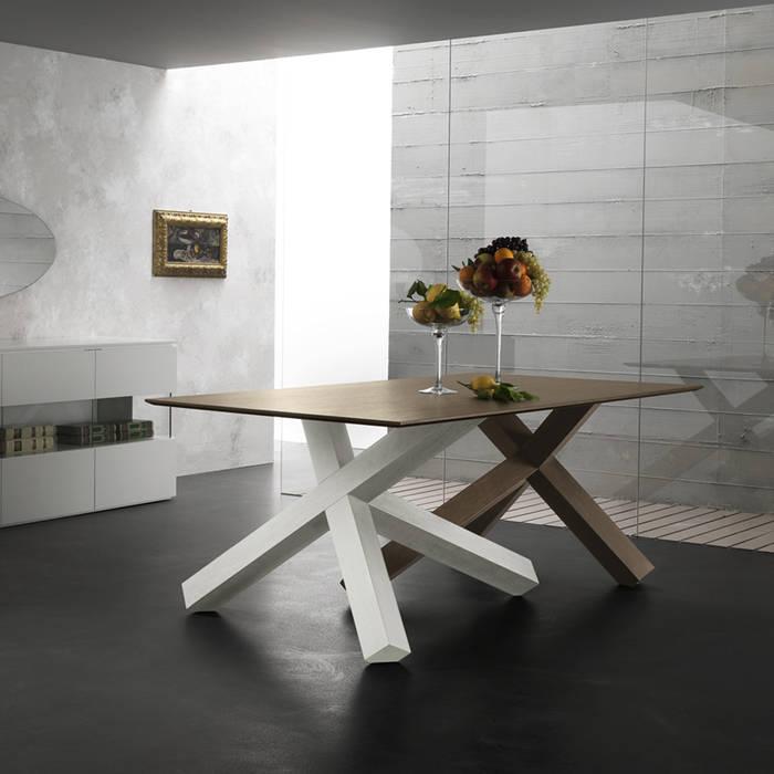 Tavolo da pranzo design moderno in legno massello di rovere glen ...