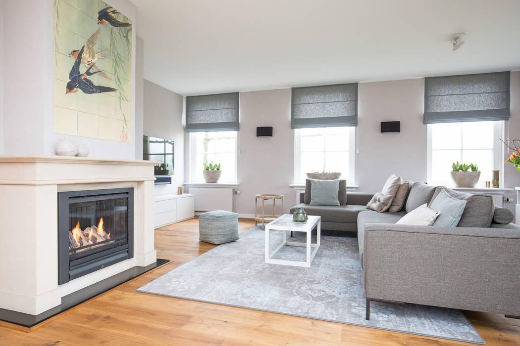 Landhausstil wohnzimmer von mignon van de bunt interieurontwerp
