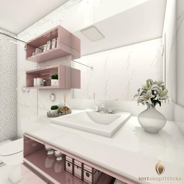 iost Arquitetura e Interiores Modern Bathroom MDF Pink