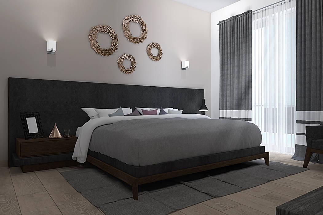 RECAMARA PRINCIPAL Dormitorios modernos de homify Moderno Derivados de madera Transparente