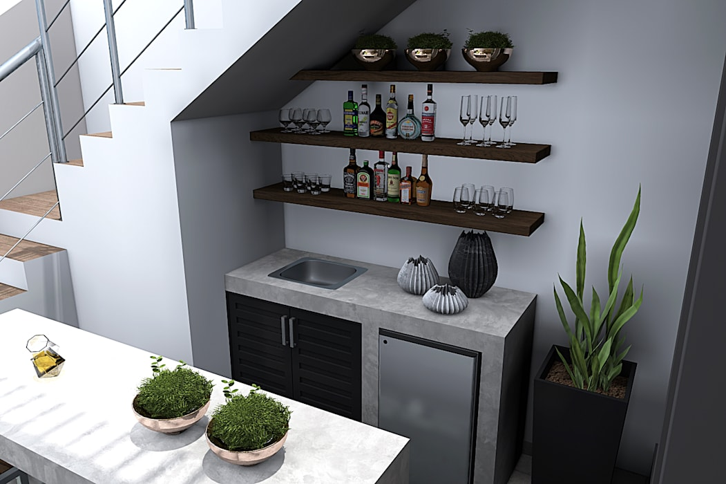 Wine cellar by homify, Modern Concrete