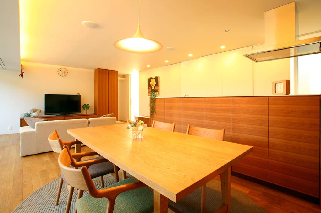 清須の家: 浦瀬建築設計事務所が手掛けたダイニングです。,オリジナル