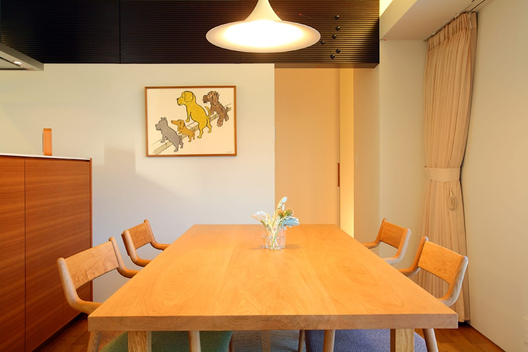 Eclectic style dining room by 浦瀬建築設計事務所 Eclectic