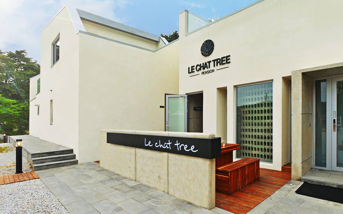 르샤트리 모던스타일 주택 by 건축사사무소 어코드 URCODE ARCHITECTURE 모던 우드 + 플라스틱
