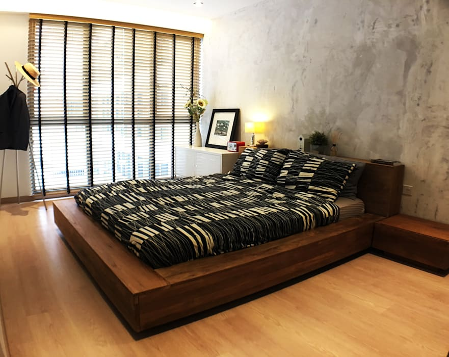 master bedroom:  Bedroom by RSDS Architects,Industrial