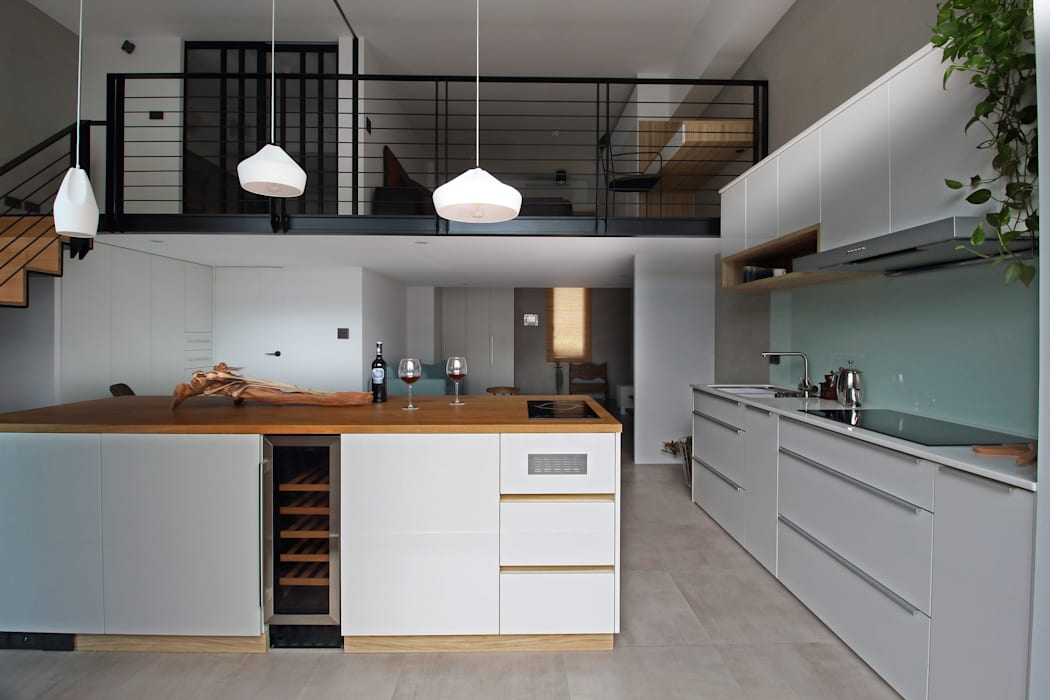01 Scandinavian style kitchen by 樂沐室內設計有限公司 Scandinavian Wood-Plastic Composite