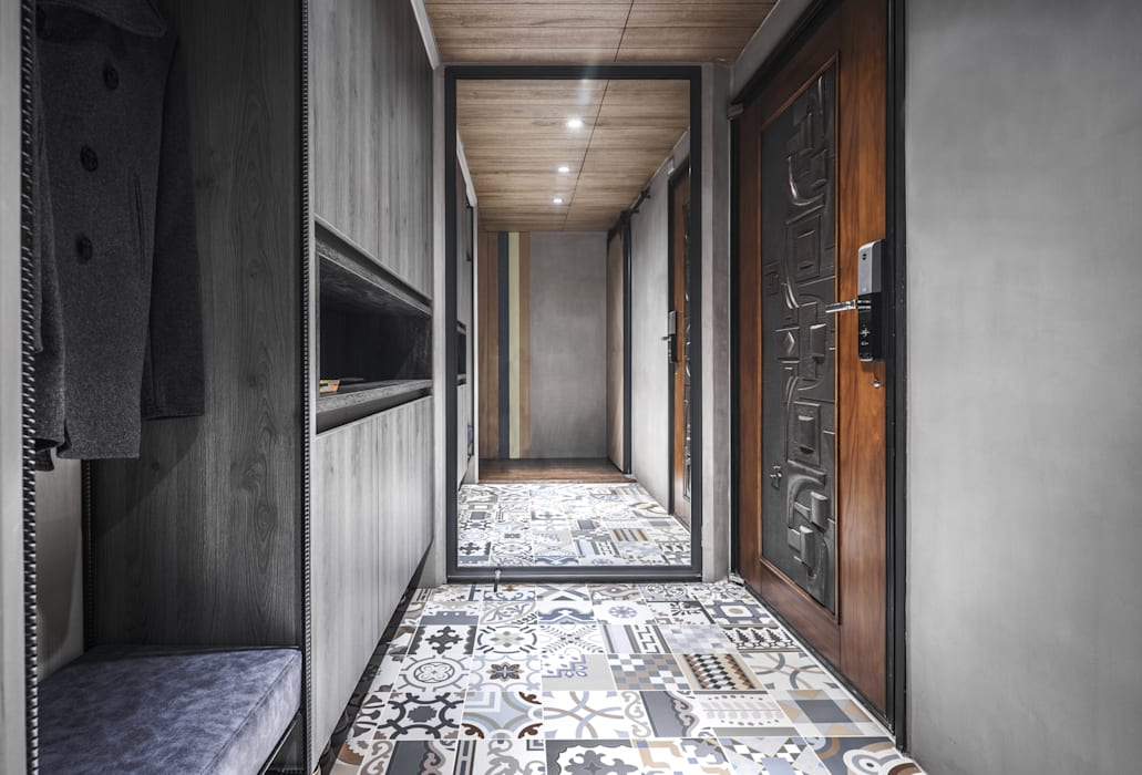 03 工業風的玄關、走廊與階梯 根據 樂沐室內設計有限公司 工業風 塑木複合材料