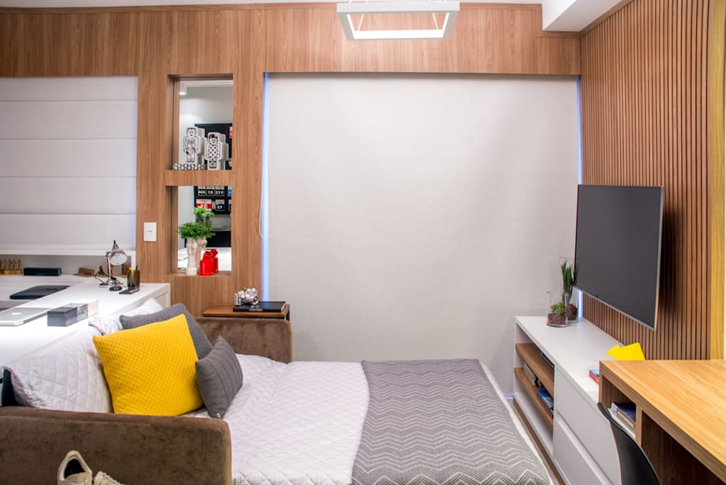 Salones de estilo moderno de Danyela Corrêa Arquitetura Moderno