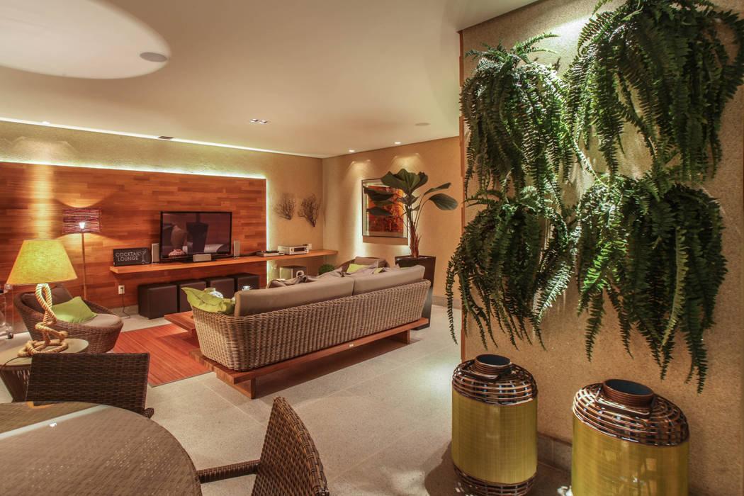 fatto arquitetura Rustic style living room