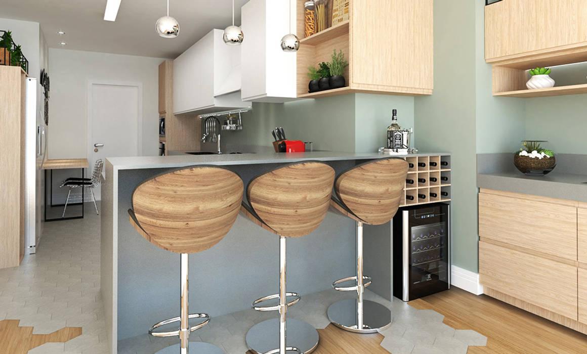 Cocinas de estilo minimalista de Aresto Arquitetura Minimalista