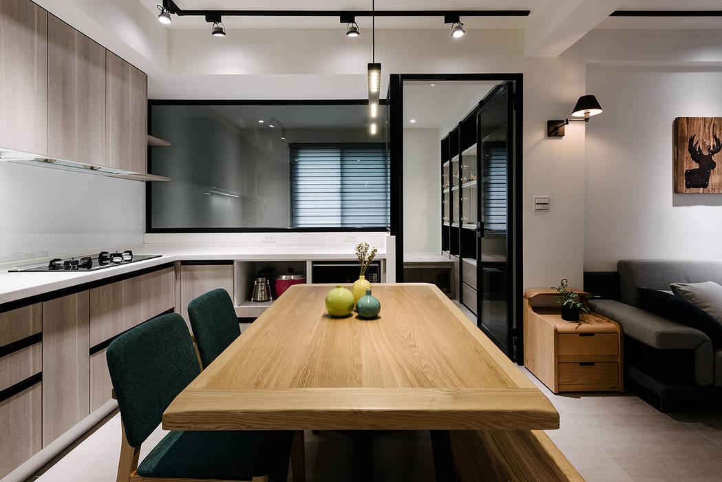 4F開放式廚房及書房 隹設計 ZHUI Design Studio 廚房