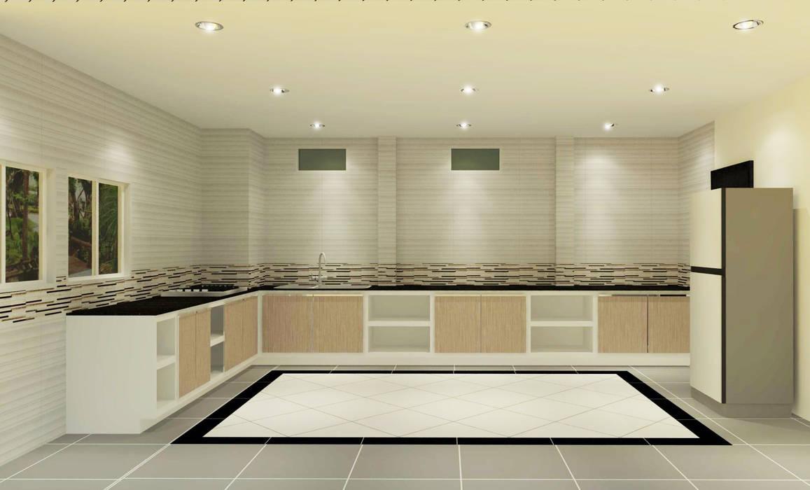 Kitchen 3D Design #17 โดย homify โมเดิร์น