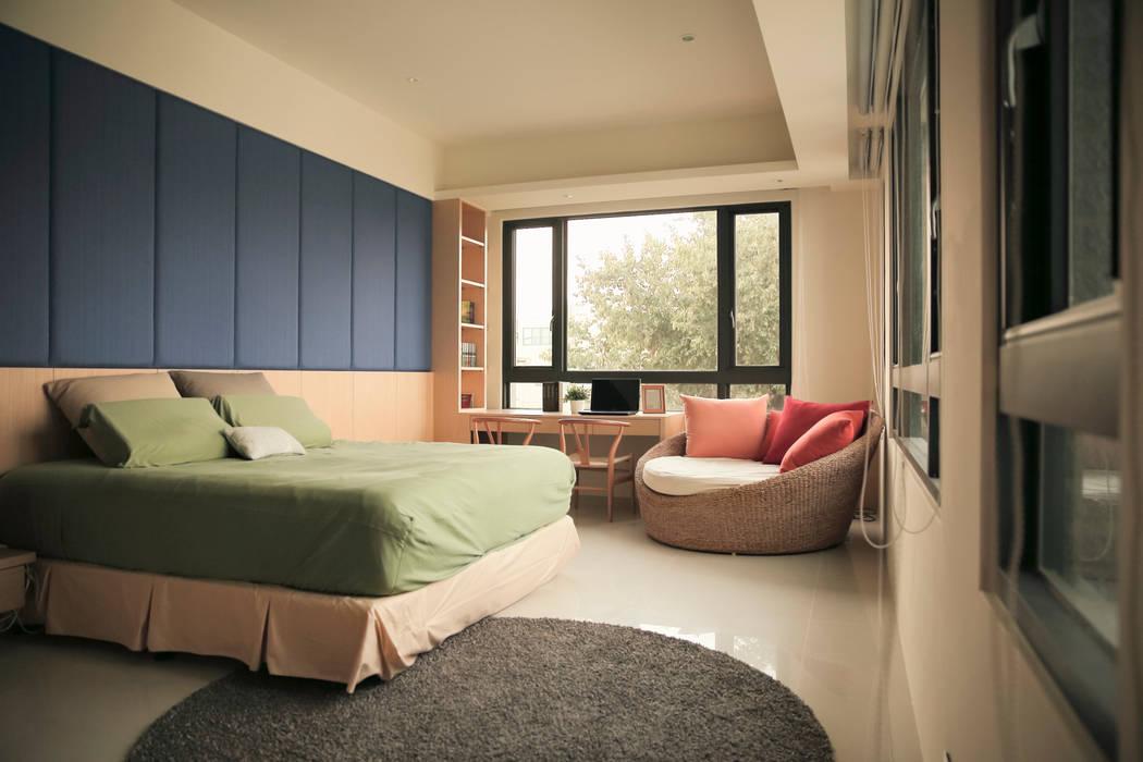 غرفة نوم تنفيذ 舍子美學設計有限公司,