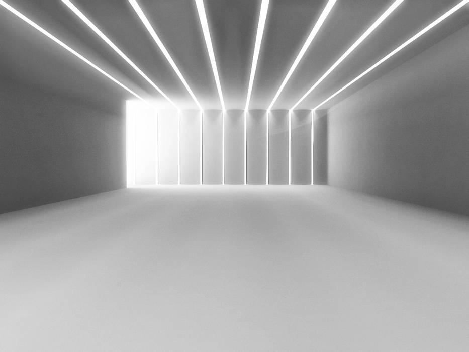 Tagli di luce indiretta da incasso nel controsoffitto soggiorno