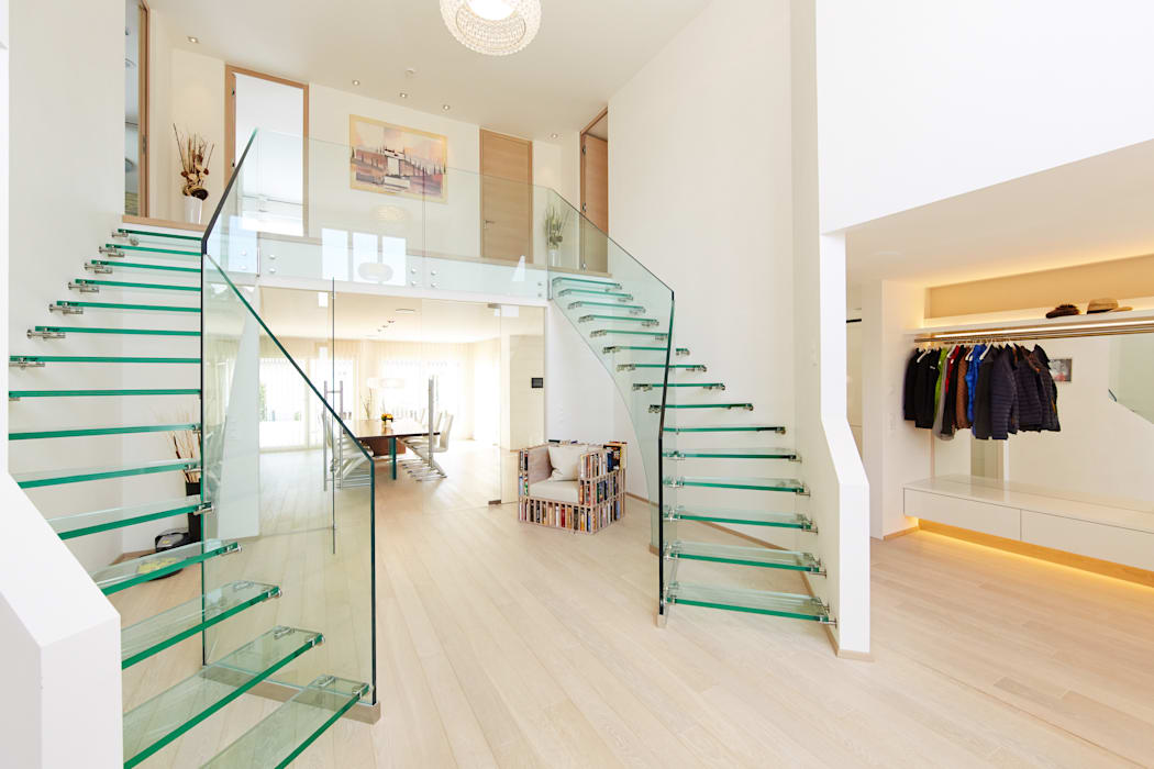 Mistral Twin Siller Treppen/Stairs/Scale Modern Corridor, Hallway and Staircase Glass Transparent