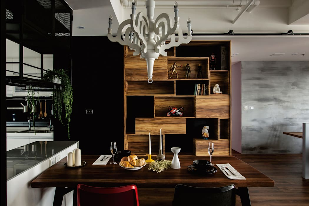 Industrial style dining room by 釩星空間設計 Industrial