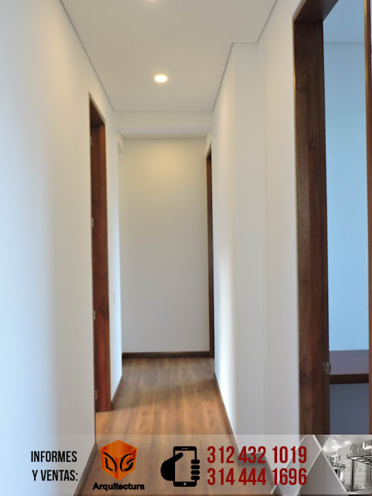 Modern corridor, hallway & stairs by DG ARQUITECTURA COLOMBIA Modern