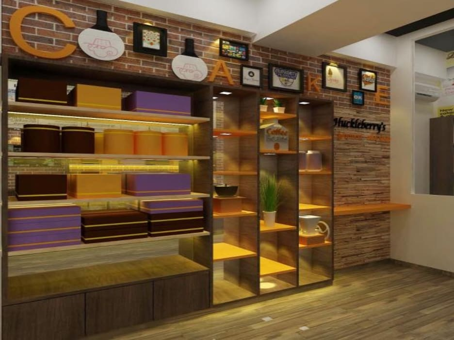 Cake Shop:  Commercial Spaces by A Design Studio,Modern