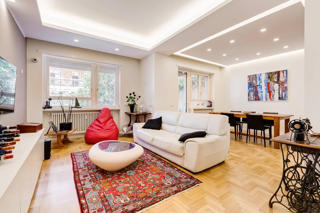 Farnesina   minimal design: soggiorno in stile di ef_archidesign ...