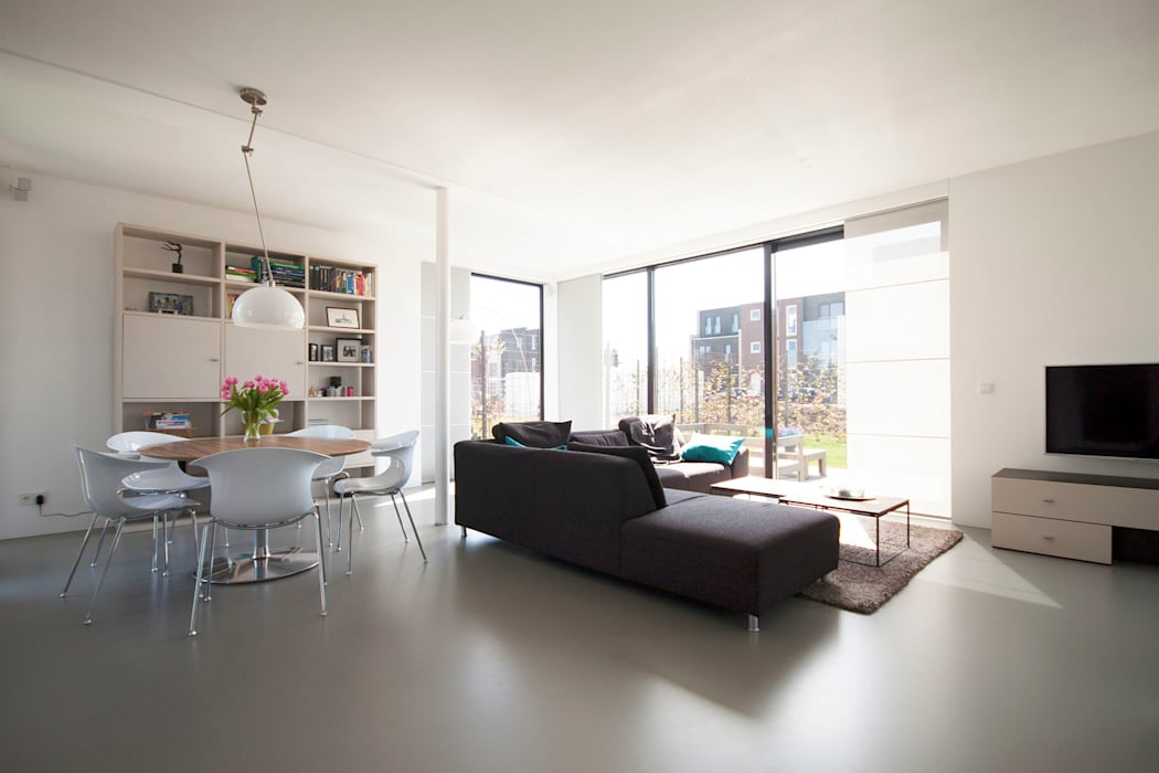 Living room by 8A Architecten, Modern Concrete
