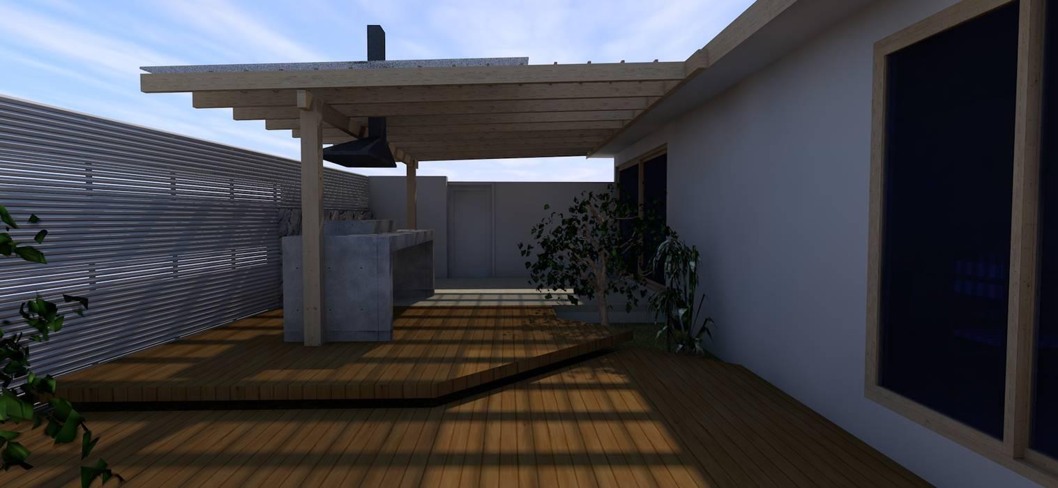 CASA MENICHETTI ORTEGA: Terrazas  de estilo  por Dušan Marinković - Arquitectura