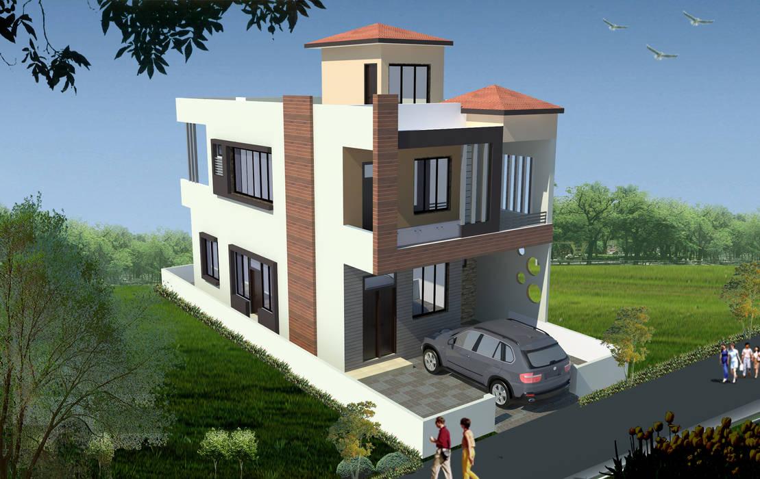Duplex House Design Modern houses by Archplanest Modern