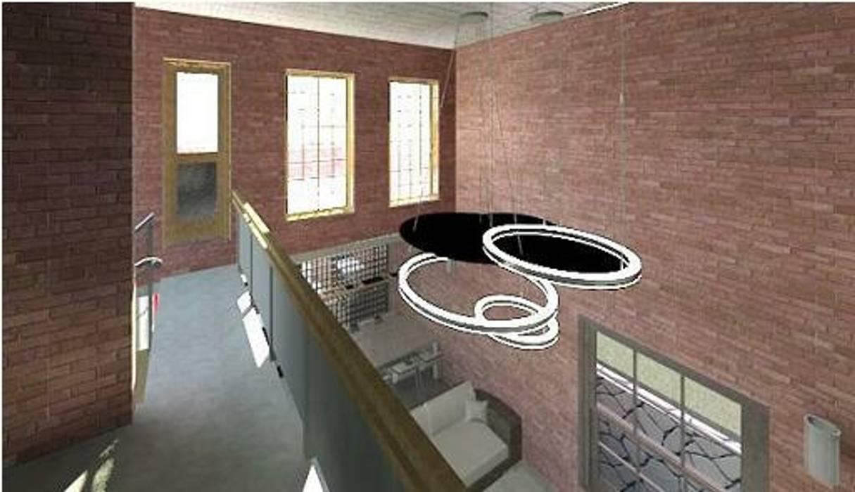 Pasillos, vestíbulos y escaleras modernos de Arquitetura Ecológica Moderno