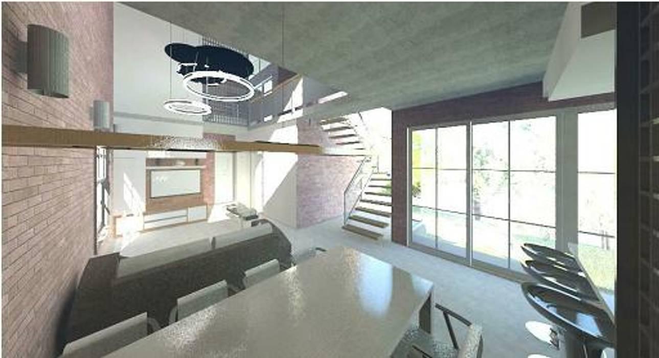 Livings de estilo moderno de Arquitetura Ecológica Moderno