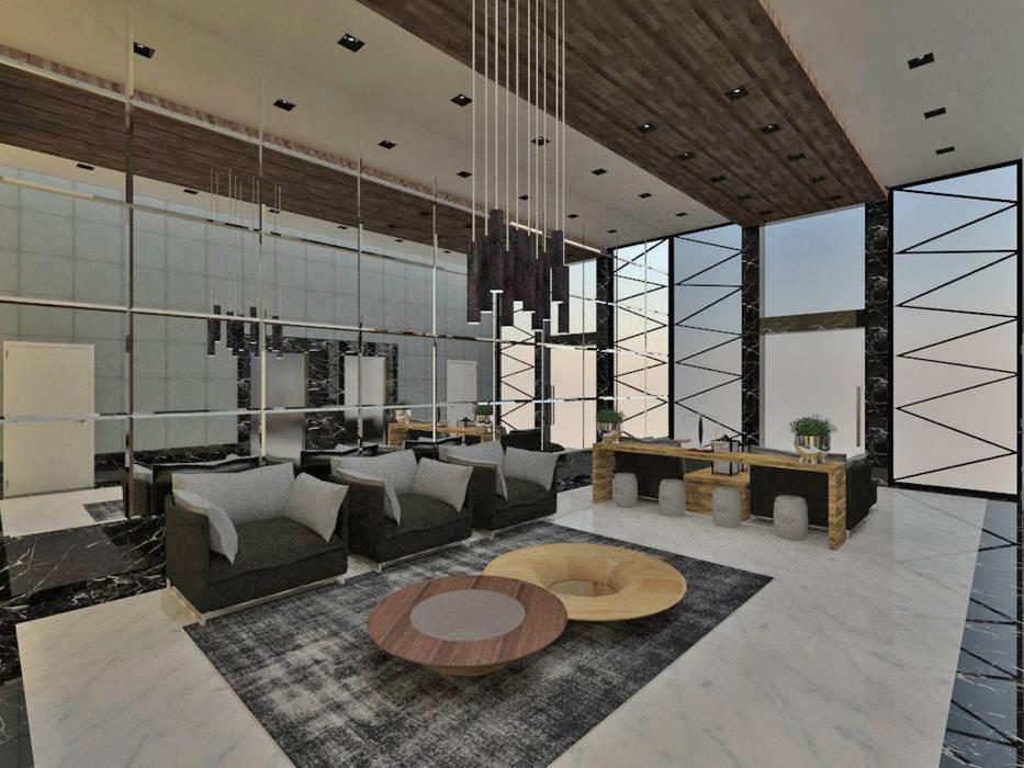 Studio Diego Duracenski Interiores Koridor & Tangga Modern Kayu Grey