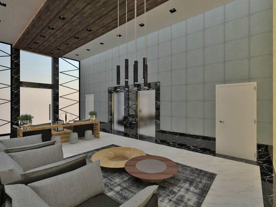 Studio Diego Duracenski Interiores Koridor & Tangga Modern Marmer Grey