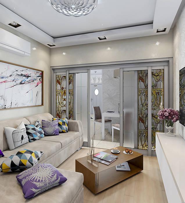 Интерьерное решение гостиной: Гостиная в . Автор – dp_interior