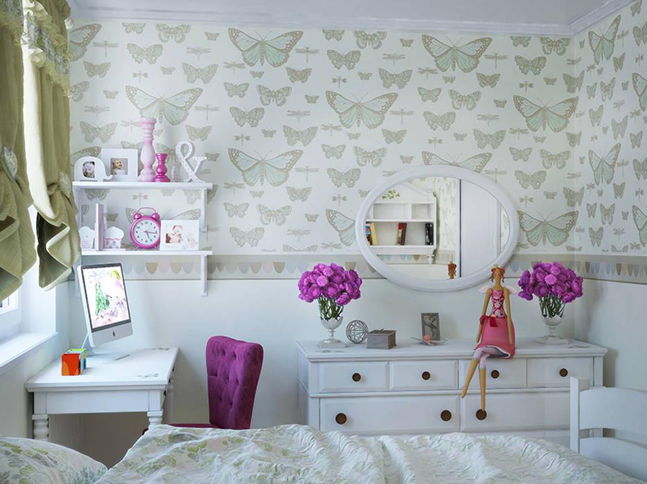 Интерьерное решение детской для девочек: Детские комнаты в . Автор – dp_interior