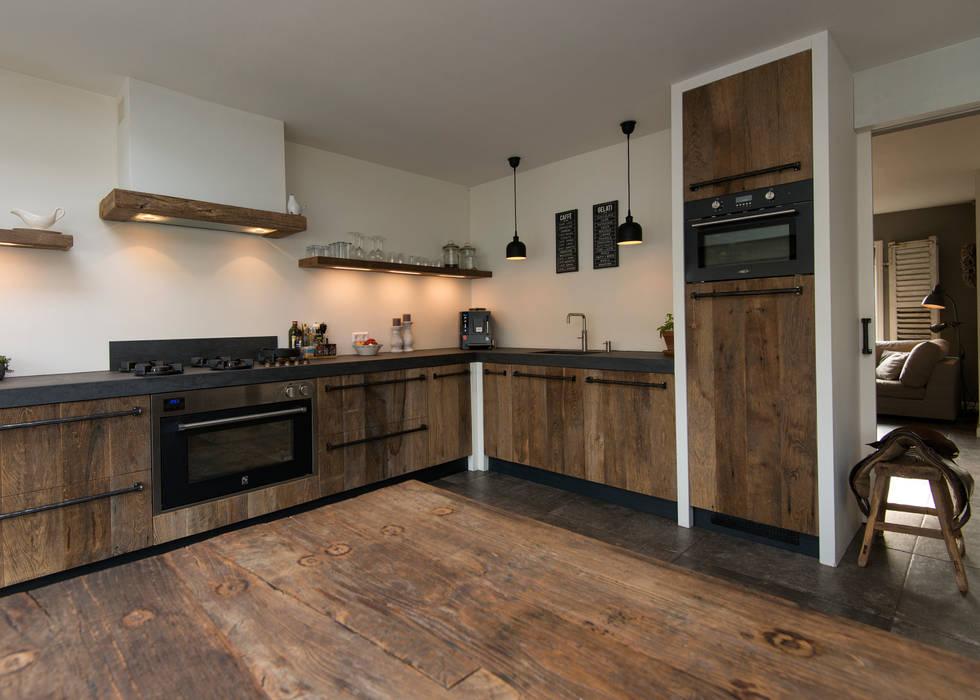 Modern landelijke oud eiken keuken en interieur keuken door