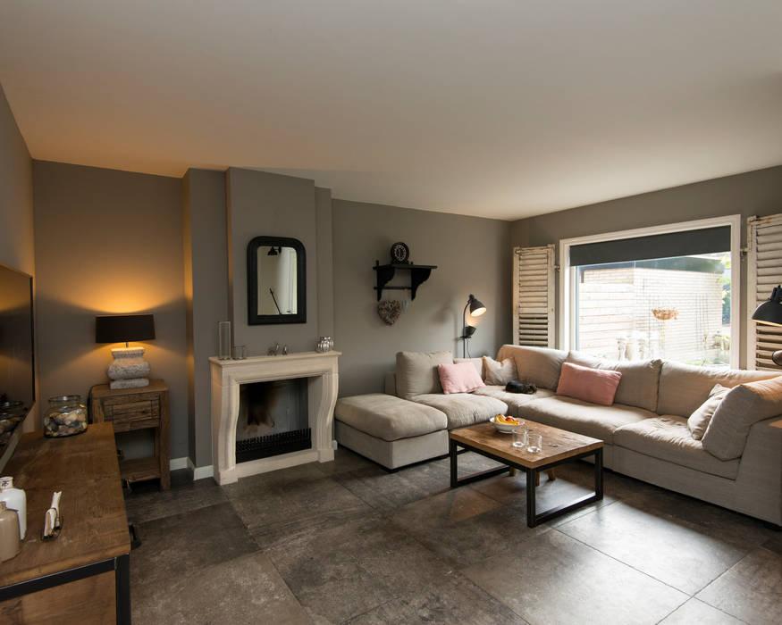 modern landelijke oud eiken keuken en interieur woonkamer door restylexl
