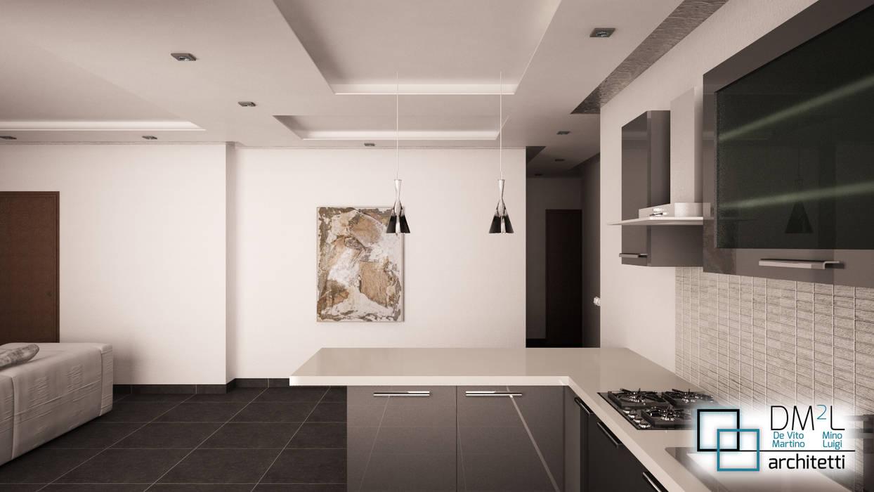Openspace contemporaneo ristrutturato: Cucina in stile in stile Moderno di DM2L