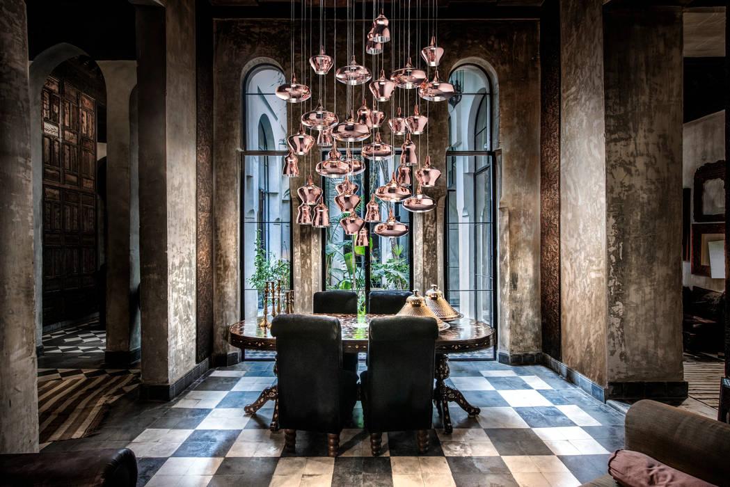 Composizione lampade a sospensione nostalgia soggiorno in stile