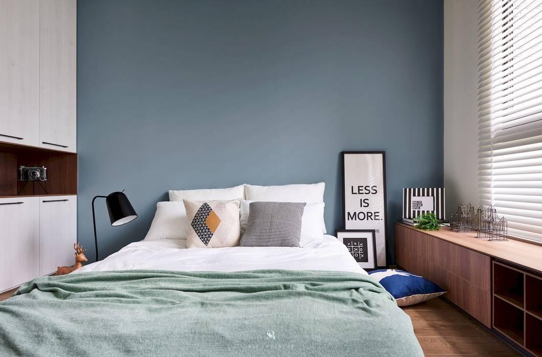 미니멀리스트 침실 by 理絲室內設計有限公司 Ris Interior Design Co., Ltd. 미니멀